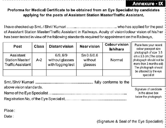 Medical Certificate Form In This Form Following Details Have To Be